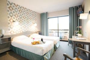 Nos chambres sont lumineuses et offrent un point de vue très agréable sur la nature environnante
