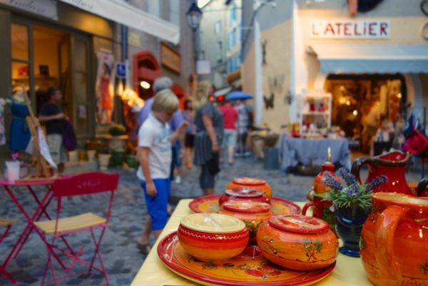 Dans les ruelles d'Anduze, en Cévennes