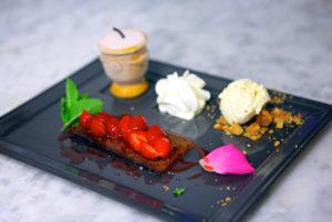 Dessert, à notre restaurant cévenol, à Anduze
