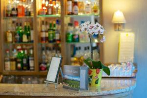 Le bar de la réception de votre hôtel cévenol d'Anduze