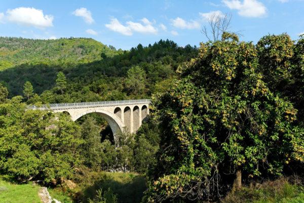 Sur la route allant de Mialet à Anduze, le Pont des Abarines construit entre 1898 et 1900, offre un beau panorama sur la vallée du Gardon