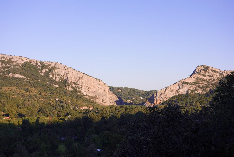La Porte des Cévennes - Vue depuis l'hôtel restaurant